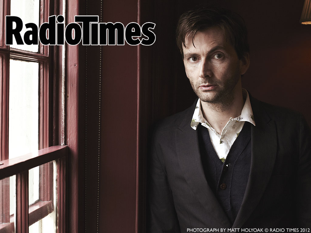 Radio Times: David Tennant near a window